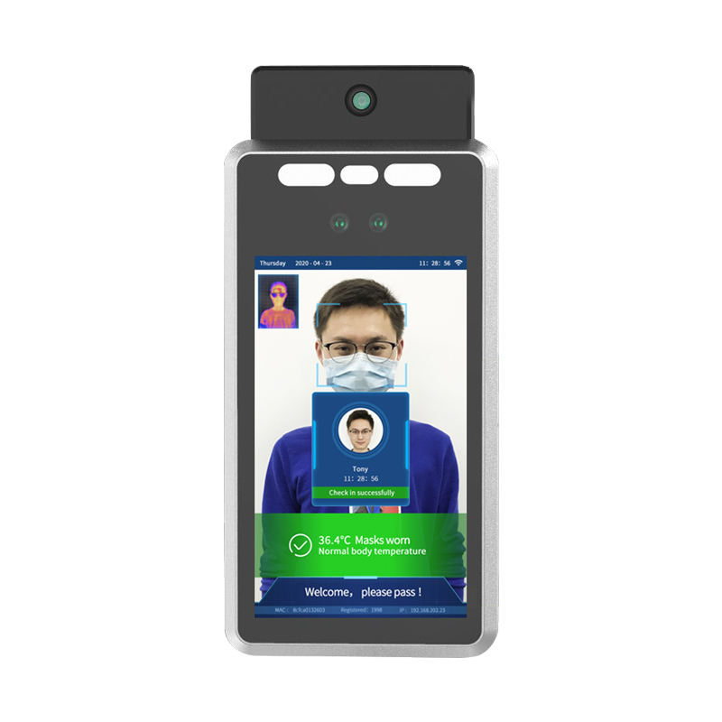 7 inch AI Face Recognition Camera Access Control And Human Body Temperature Alarm Measurement Terminal