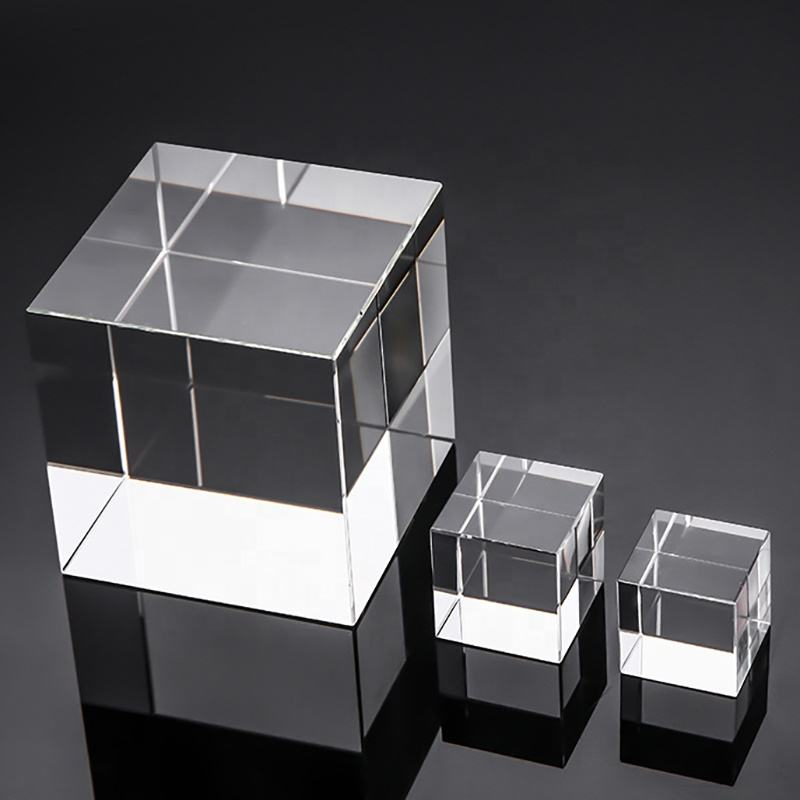 Wholesale K9 Blank Crystal Glass Blocks For 3D Laser Engraving Custom Crystal Photo Cubes