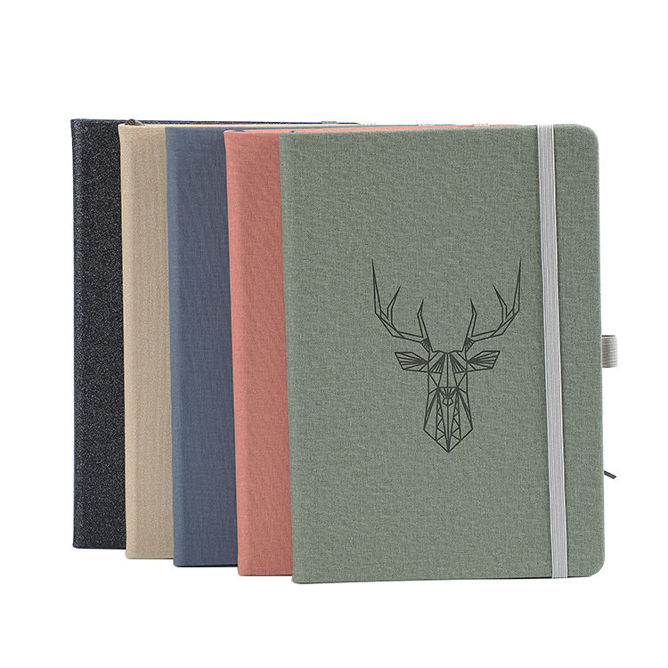 Wholesale Embossed LOGO hardcover PU leather custom printed notebook