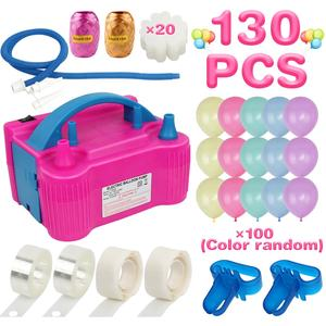 Custom Pink Balloon Inflator Machine Set Electric Inflator Balloon Pump With Balloons And Accessories