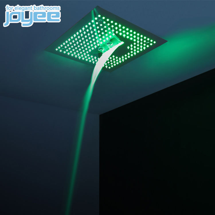JOYEE hot selling 24 inch massage spa square ceiling rain shower/bathroom stainless steel led ceiling rain shower head