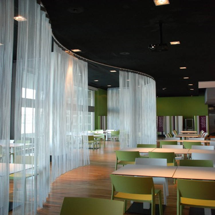 Metal curtains for the restaurant decorative