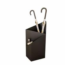 Hanssz Loke Metal Umbrella Stand Holder Storage Rack with Removable Base Drip Tray Metal Garden Umbrella Stand