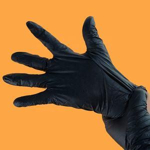 Латекс бесплатно Одноразовые порошок бесплатно Черный нитрил перчатки Guantes де nitrilo ПУ op handschuhe
