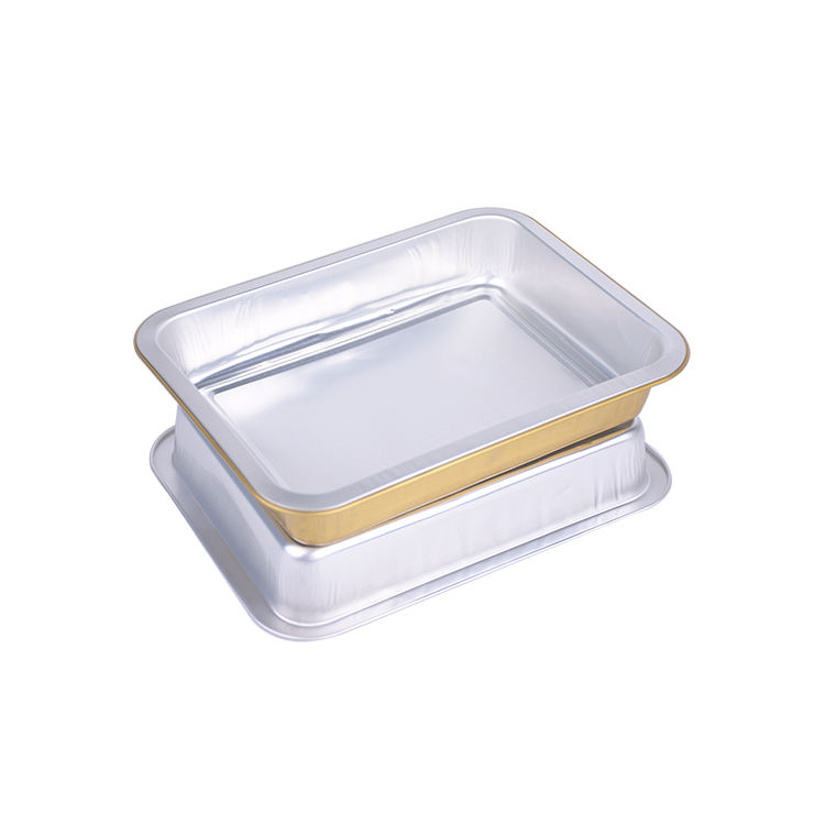 1000ml High Quality Rectangle Smooth Wall Disposable Catering Aluminum Foil Tray