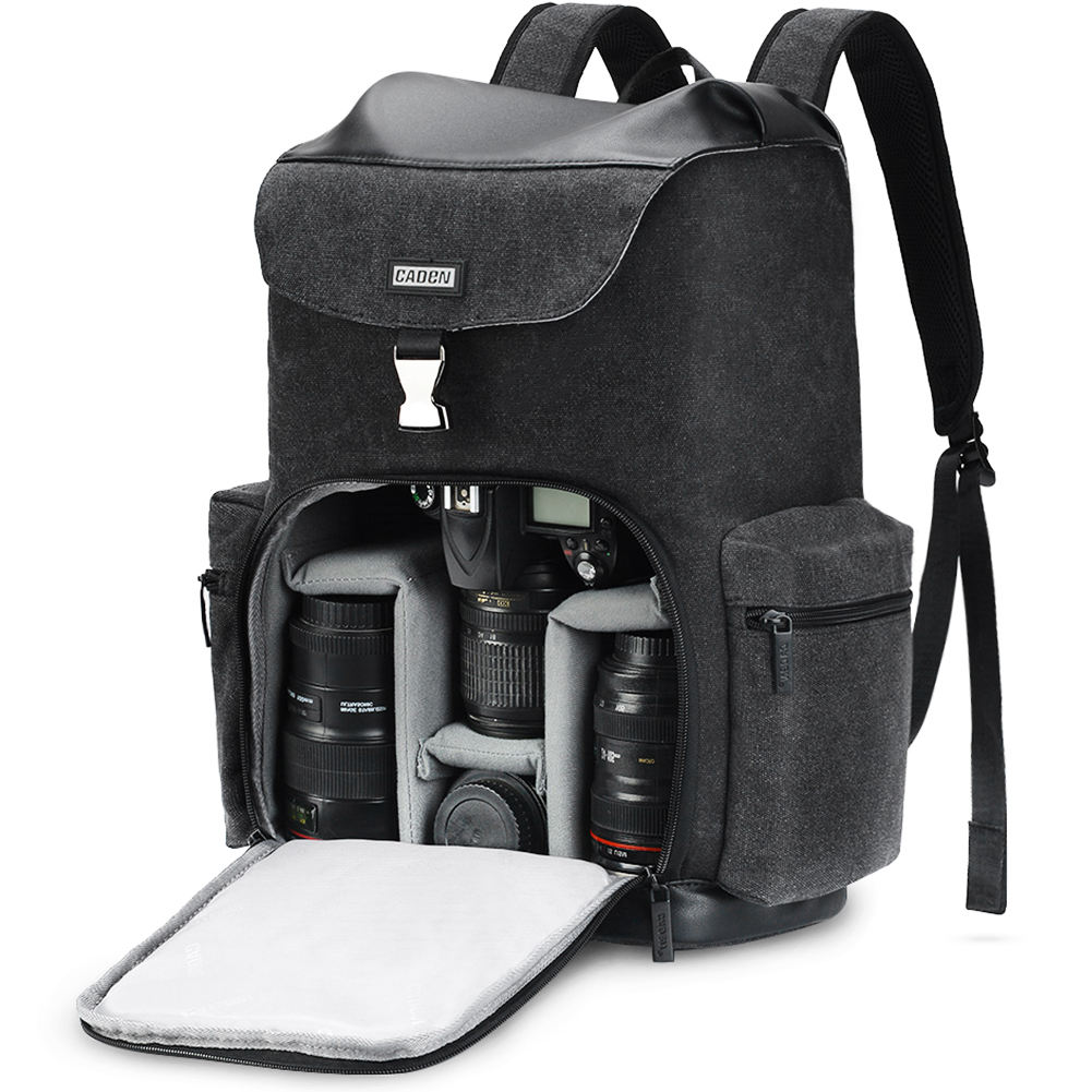 CADeN M8 Profession Custom Video Photography DSLR Canvas Retro Camera Bag Backpack Waterproof For Sony Canon Nikon Lens Tripod