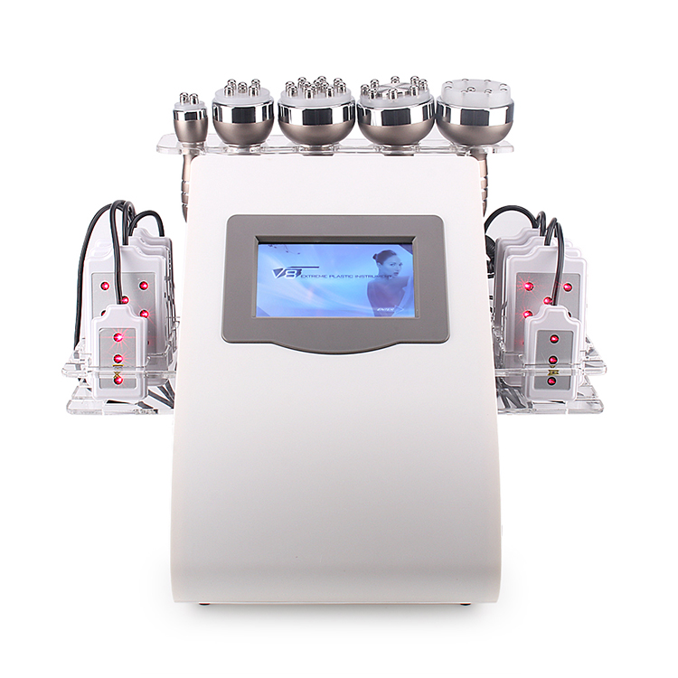 Machine de mise en <span class=keywords><strong>forme</strong></span> de corps laser 6 en 1, liposuccion ultrasonique 40k, 8 tampons, 5d lipo rf