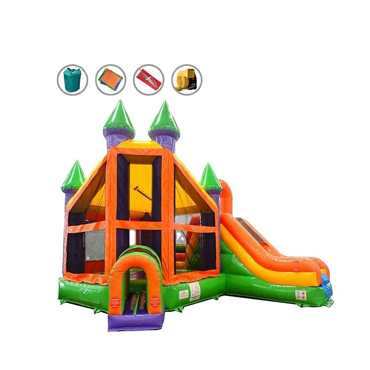 Custom china jump castle inflatable bouncer blower for bounce house with slide