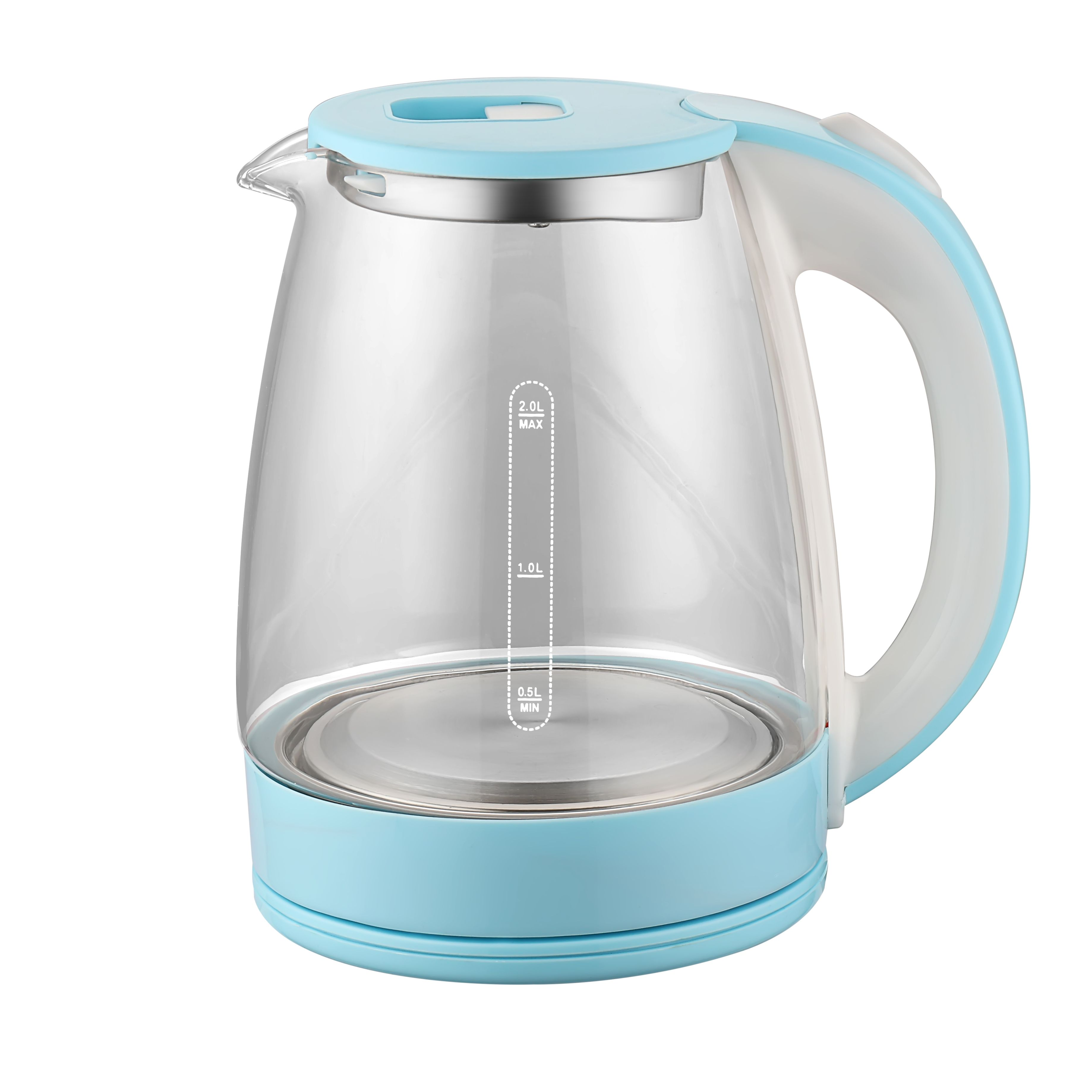 Kitchen Appliance 201/304 Heating Plate Best Electric Tea Glass Kettle With Tray / Kitchen Chef Cordless Glass Kettle