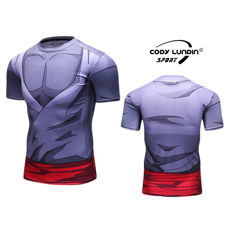 Wholesale Fitness Bodybuilding Anime Z Clothing Mens All Over Printing T Shirts