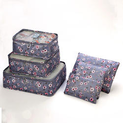 High Quality Travel Accessories 6pcs/Set Storage Bags Portable Organizer Case Unisex Fashionable Customized
