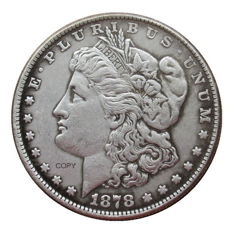 Reproduction Morgan Dollar Two Face Different Date Silver Plated Coins