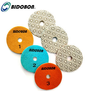 Fast and easy 4inch 3 step granite polishing pads