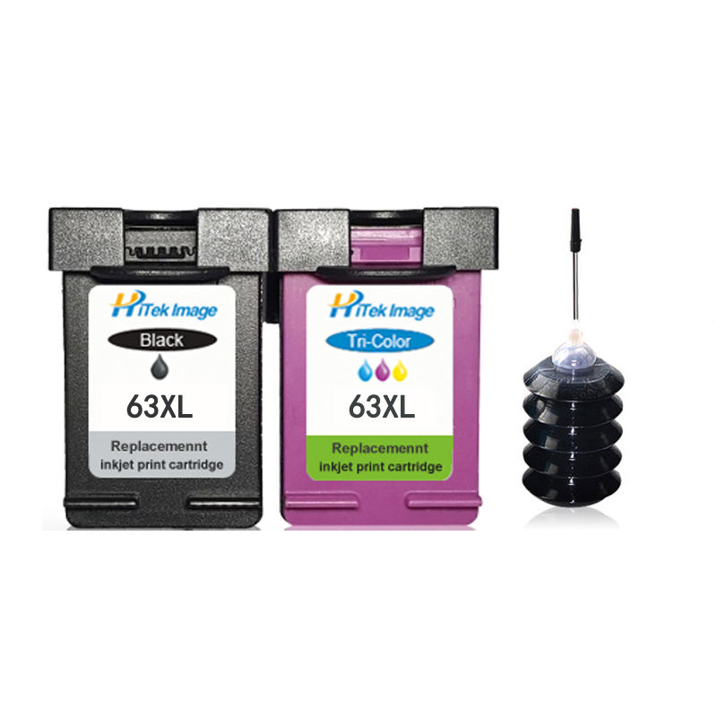 Compatible HP 63XL 63 Ink Cartridge for Officejet 3830 3831 3832 3833 3834 4650 4652 4654 4655 5220 5230 5252 5255 5258 Printer