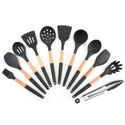 Cookware and Wooden Silicone Kitchen Utensils