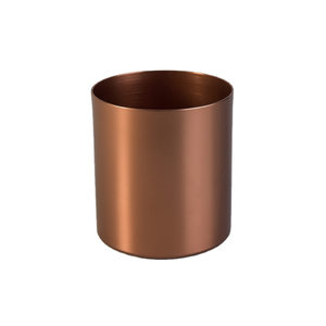 Amazon hot metal tealight candle cups copper colored aroma candle jar single wall smokeless aluminum candle cup