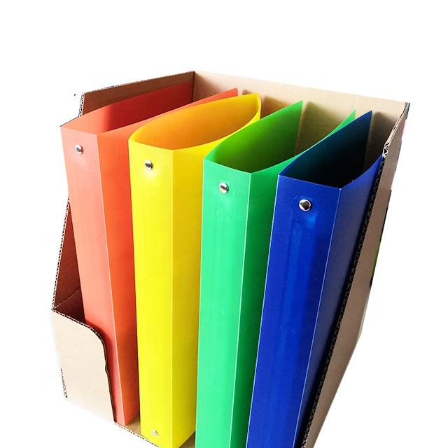 4 Ring Binder PP Files Fold Side Clip Folder with A4 Size