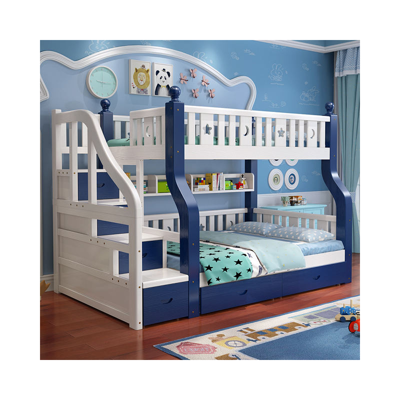 Environmentally friendly cabinets design kids room furniture children bunk bed