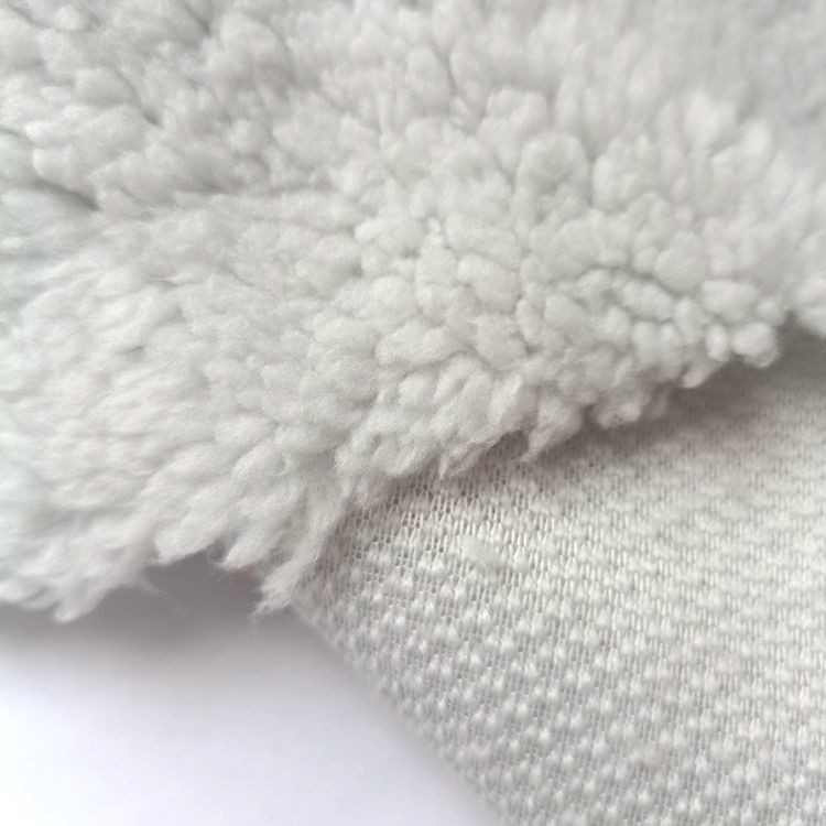 Main Products In Stock 1 Side Brushed Warm Sherpa Fleece Fabric