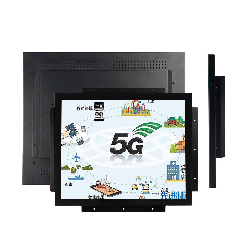 "12"" 15"" 17"" 19"" Full-Flush LCD Display industrial lcd touch screen monitor with I/O Connectors"