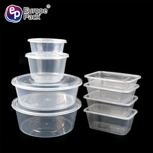 OEM/ODM top quality PP microwavable plastic lunch box round and square disposable takeaway packaging meal box food containers