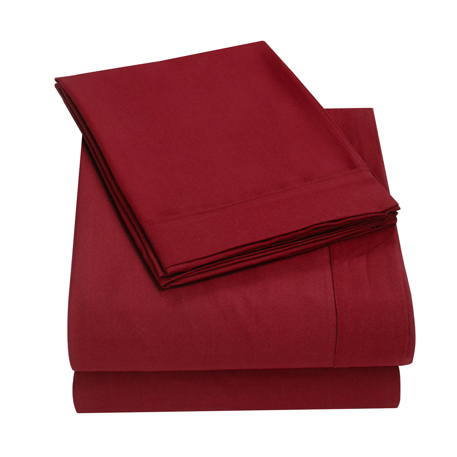 Soft Brushed Microfiber Bedding Sheet Set Shrinkage and Fade Resistant Easy Care 1 Fitted 1 flat Sheet 2 pillowcase