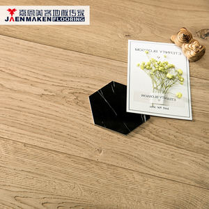 Look Unfinished Color Emboss Surface Rustic CD Grade 3-layer Euro Oak Parquet Flooring Boards