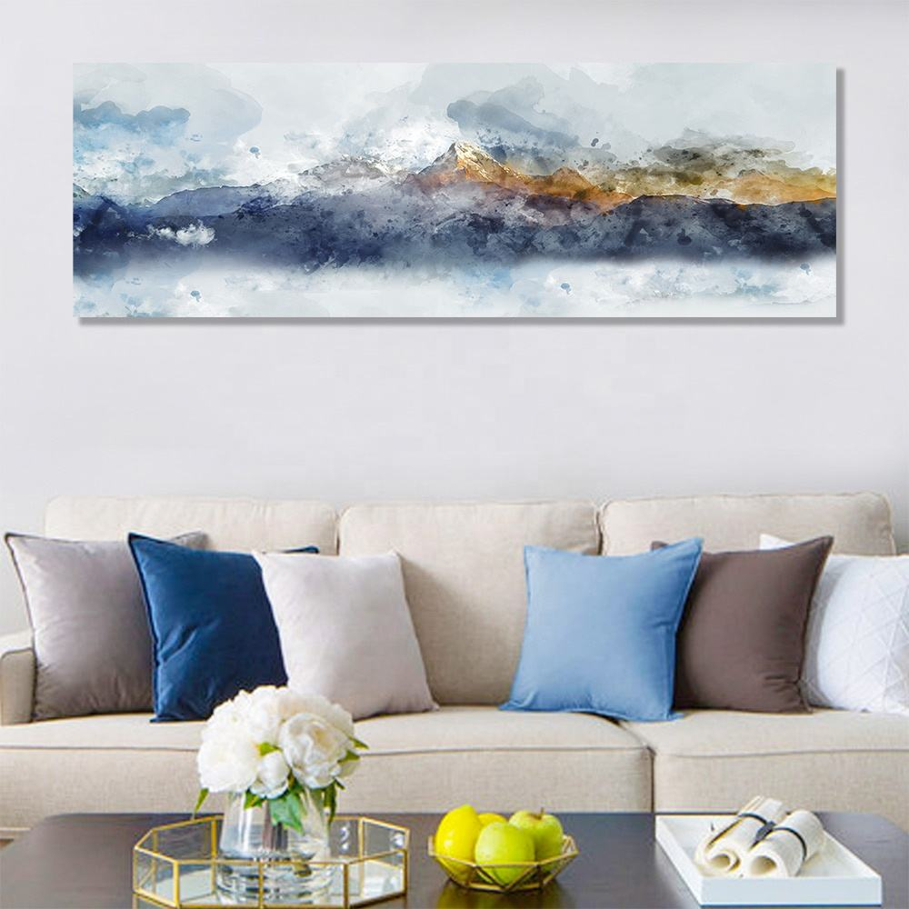 Wall Frame Painting Custom Big Size Large Mountain Artwork Framed Artwork Modern Home Decoration Wall Art Paintings For Living Room Wall