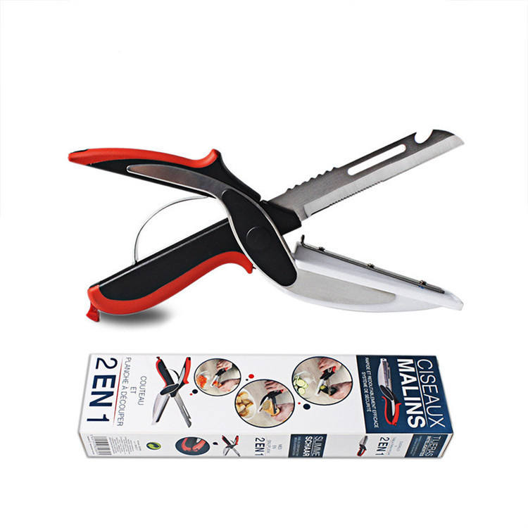 6-in-1 Multifunction Kitchen Scissors,Kitchen Knife Cutting Board Vegetable Peeler,etc.