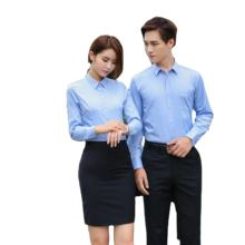 2020 hot sale blue long sleeve elegant office shirts for women and men