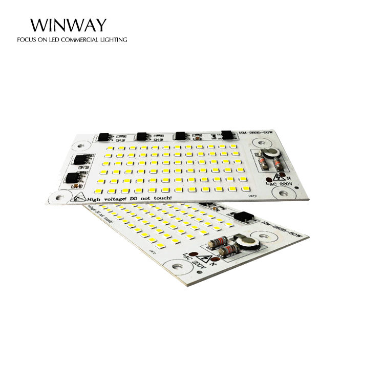 high lumens popular light price 90lm/w 50w smd 2835 pcb Led Driverless Module for floodlight 50w