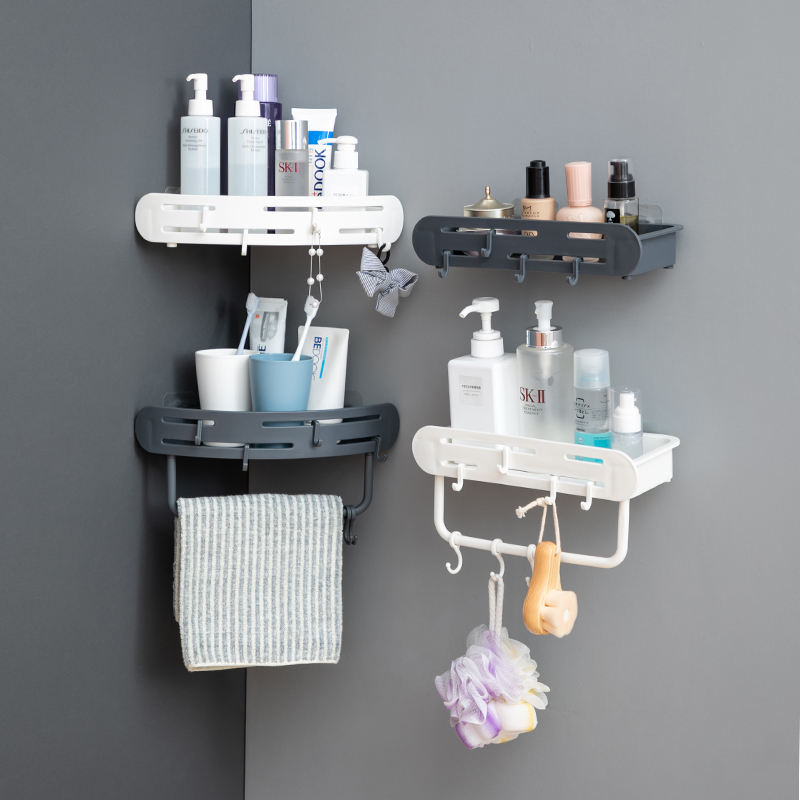 wall-mounted rack shelf holder for bathroom kitchen home