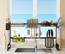 65 and 85cm 201 304 stainless steel Over Sink Plate Bowl  Dish draining kitchen rack storage holders