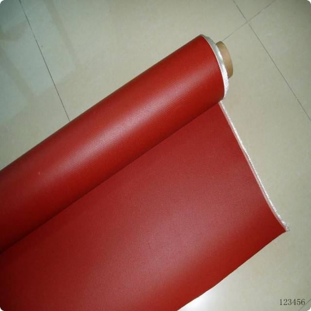 Hot Sale High Temperature Silicone Coated Fiber Glass Fabric Cloth Red Grey Black Color