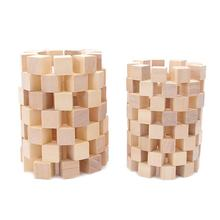 Natural Solid Unfinished Pine Wood Blocks Wood Cubes for Puzzle Making Photo Blocks Crafts and DIY Projects