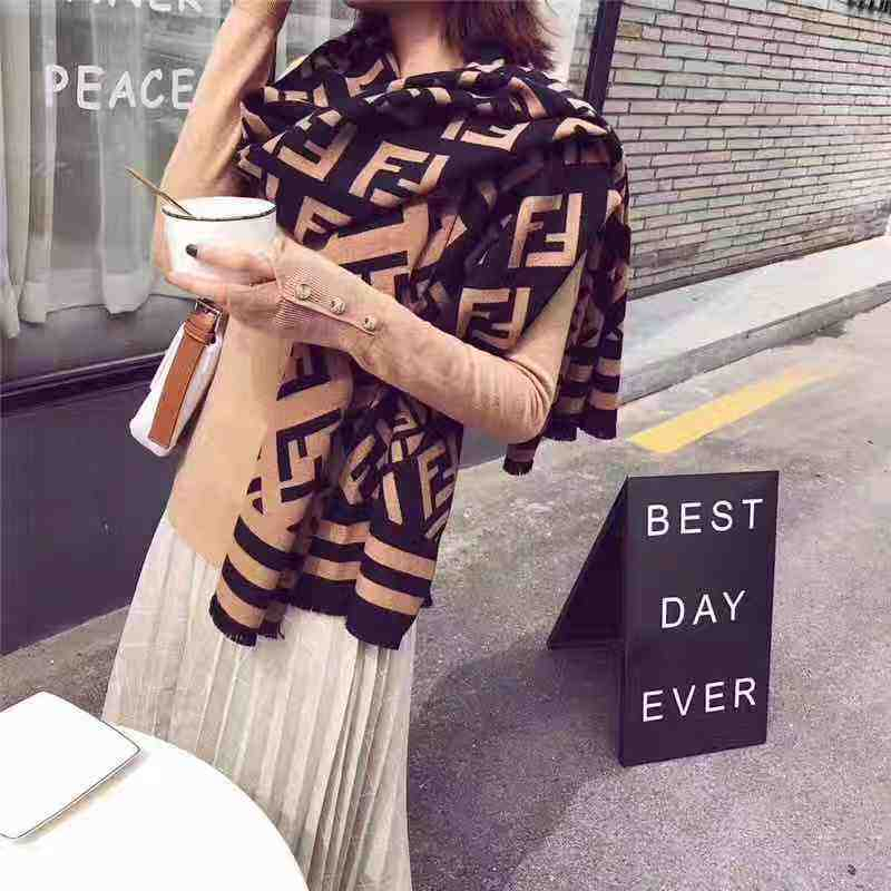 new fashion letter F print winter scarf