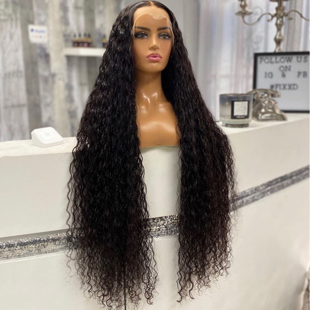 Baoli Factory Virgin Indian Colored Water Wave Lace Front Wigs 10A Glueless HD Full Lace Transpare Human Hair Wig With Baby Hair