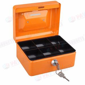 Wholesale portable storage money safe cash box with two keys