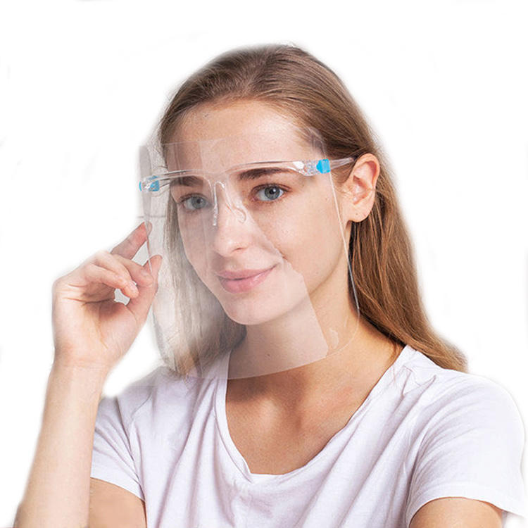 In Stocks faceshield with glasses frame glasses clear plastic anti fog