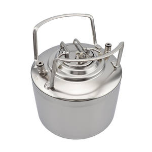 New Stainless Steel 6L Cornelius Keg Ball Lock Type with Post and Relief Valve Homebrew Draft Beer Keg