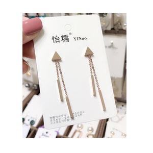 Hot Selling Jewelry Shell Earrings Simple Fashion Long Chain Shell Girls Stud Earring