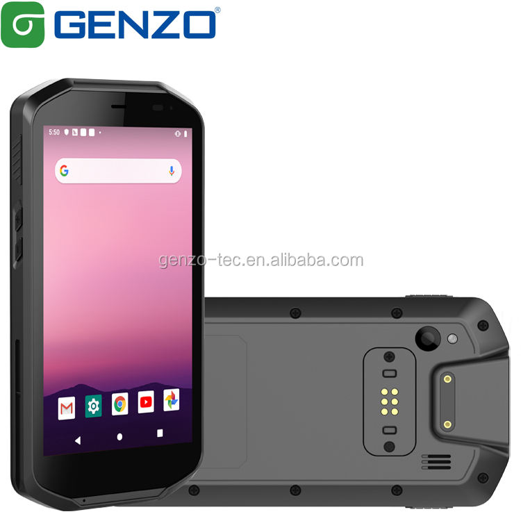 GENZO Neuer 5 Zoll 8 Kerne Android 9.0 Robuster PDA mit 2D-Barcode-Scanner Handheld Logistic PDA mit UHF A503