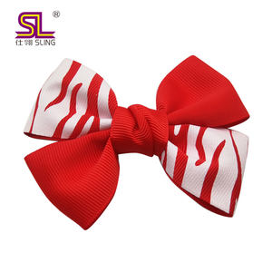 Ribbon, Polyester Material and Kids Type christmas hair bows
