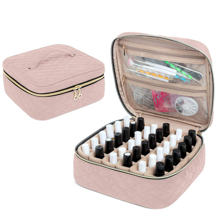 Factory Travel Nail Polish Carrying Bag Cosmetic Case Manicure Organizer Bag