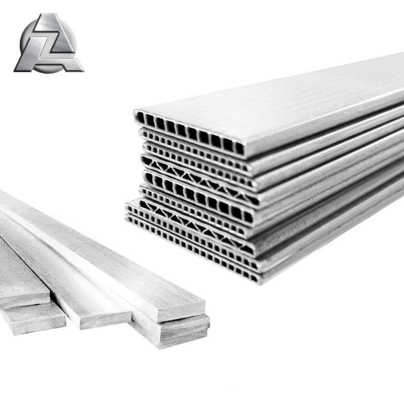 Micro channel extruded oval aluminium flat tube bar extrusions profile