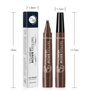Permanent Waterproof Hot 4 Tip Makeup Liquid Slim Eyebrow Pencil