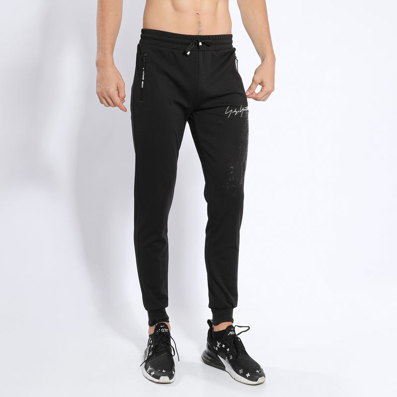 Mens plain cotton wholesale gym sports pants men fitness custom printing jogger pants Training Sweat Pants for men