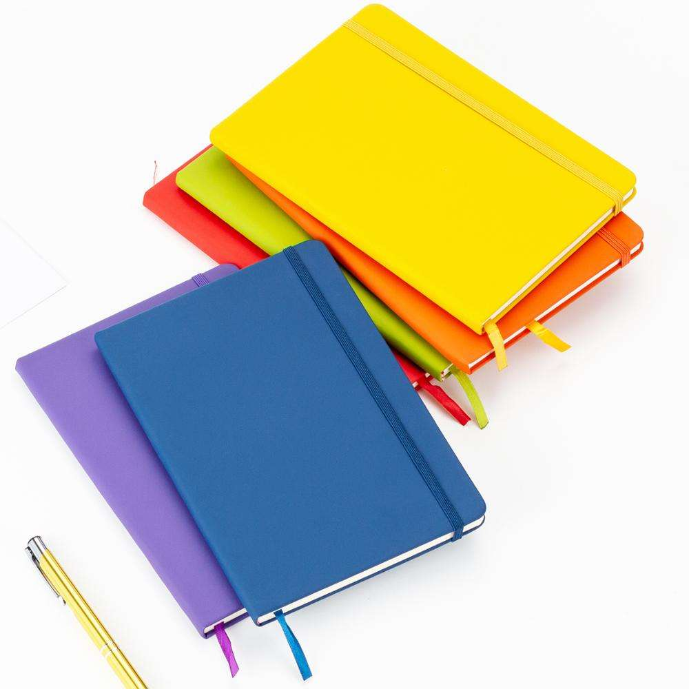 Promotional Write Usage A5 Pu Leather Notebook Customized Inner Pages Exercise School Note book Logo Notebook