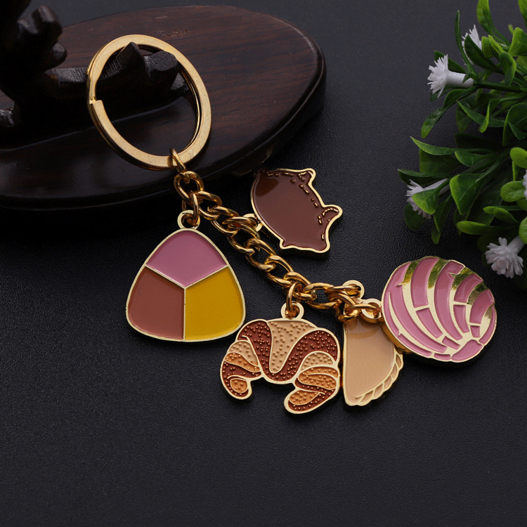 One-Stop Service Pendant Keychain Metal Keychain Manufacture Bulk Item Custom Gold Metal Soft Enamel Charm Pendant Wholesale Keychain