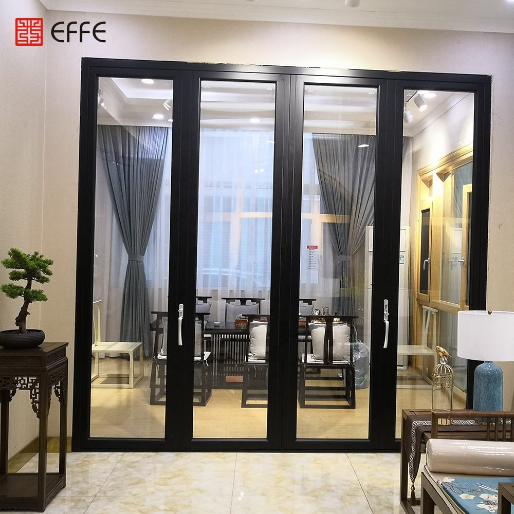 Aluminum Glass Patio Exterior Bifold Doors Double Glazing aluminum sliding door